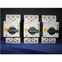 (LOT OF 3) Klockner Moeller PKZM0-0,63 MANUAL STARTER SWITCH 600VAC