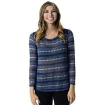 New! Sz S Romeo & Juliet Couture Blue Knit Front Chiffon Back Hi-Lo Sweater Top