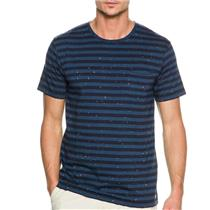 Quiksilver Stitched Up Tee Striped/Spotted Dark Denim Medium