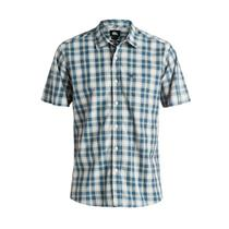 Quiksilver Everyday Plaid Short Sleeve Shirt Denim Medium