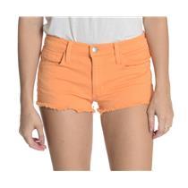 """Sz 26 Joe's Brand Bright Orange Cutoff Denim Shorts 1"""" Inseam Cotton/Lycra Blend"""