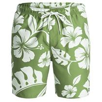 "Quiksilver Mens Nassau 18"" Volley Boardshorts Green/Tan Large"