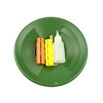 "10"" Green Gold Pan Mining Kit - Snuffer Bottle - 2 Snappy Grips-Mining"