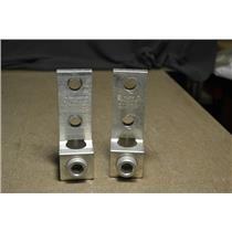 (Lot of 2) ILSCO D2054 TA-600-2NS MECHANICAL LUG #2 AWG thru 600 MCM CU/AL AL9CU