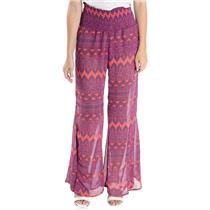 S NWT Show Me Your Mumu Sheer Robert's Party Pants in Rajah Print Sheer Poly
