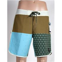 "Quiksilver Men's Quad Block 18"" - Board Shorts 32"