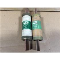 (LOT OF 2) BUSSMAN REN 200 SUPER LAG 200A RENEWABLE FUSE