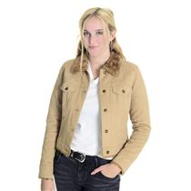 Size XS Halogen Camel Colored Faux Suede Faux Fur Lined Button Front Jacket