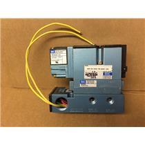 Mac 82A-AA-AAA-TM-DDAP-1DA Solenoid Valve with Mac FC82A-AA Valve Flow Control