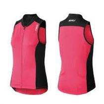 2XU Women's Active Multi-Sport Tri Singlet - Black / Pink - Women's Small