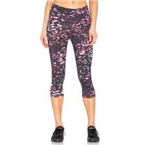 S NWT Varley Pico Tight 3/4 Length Cropped Legging Multi Color Tiger Lily Print