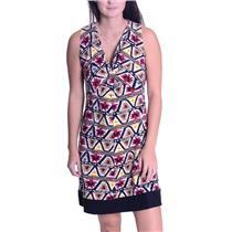 SP Jones New York Signature Petite Ikat Twist Front Sleeveless Shift Dress WOW