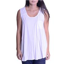 S We The Free Free People SOFT Raw Edge Sleeveless Loose Fit Top 100% Cotton