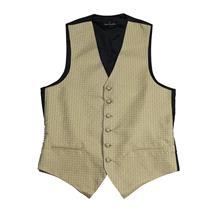 NWT Fumagalli's Mens Formal Tuxedo Golden Cream Square Button Front Silk Vest