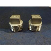 (LOT OF 2) 3/4 IN. NPT PLUGS 316 STAINLESS STEEL