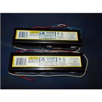 (LOT OF 2) ADVANCE TRANSFORMER CO. 120V BALLAST REL-2P59-S-RH-TP