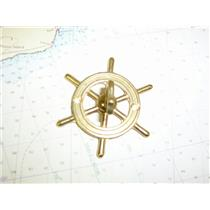 Boaters Resale Shop of TX 773692321608 DECORATIVE BRASS STEERING WHEEL HOOK