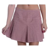 27 NEW Paper Denim & Cloth Mauve Dusty Pink Pleated Corduroy Cord Mini Skirt