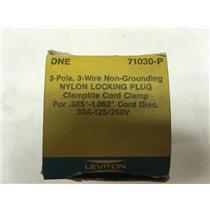 Leviton L10-30 71030-P Nylon Locking Plug Clamptite30A-125/250V