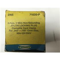 Leviton 71020-P Nylon Locking Plug Clamptite Cord Clamp 20A-125/250V