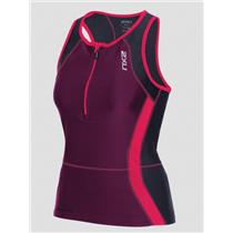 2XU Active Tri Singlet Women's Small Barberry / Carbon Purple