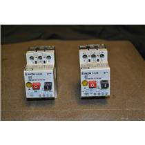 Lot of 2 Moeller PKZM 1-0,16 0.1-0.16A Manual Motor Starter PKZM1-0,16 PKZM1016