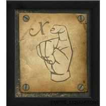 "Sealed The Artwork Factory Ready-to-hang 9"" X 8"" Sign Language X Framed Print -A"