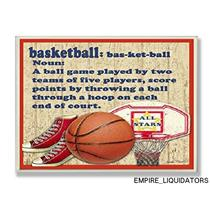 The Kids Room by Stupell Basketball Dictionary Definition Rectangle Plaque -A