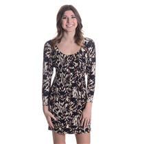XS NWT Weston Wear San Francisco Empire Waist Whitney Dress/Tunic Brown/Ivory