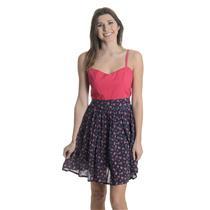 L NEW Ginger Lamb Betty Polkadot Floral Dress Pink/Navy Sweetheart Neck 27662