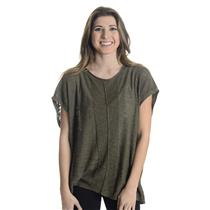M by Michael Stars Rolled Neck Dolman Cap Sleeve Light Knit Sweater Army Green
