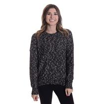 New Sz L Michael Stars Back V Cutout Pullover Long Sleeve Sweater in Blackwood