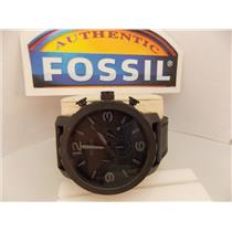 Fossil JR1354 Nate Chronograph Black Dial Black Ion-plated Men's Watch
