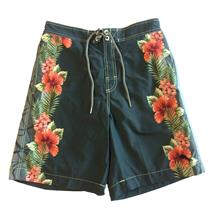 Size S NWT Tommy Bahama Mens Swirl of My Dreams Blue Hibiscus Swim Board Shorts