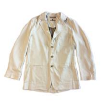 S NWT Tommy Bahama St Thomas Silk Spray Ivory Gray Button Front Blazer T5390