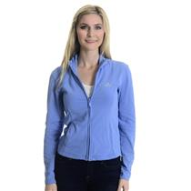 Sz S Adidas Clima365 Blue Long Sleeve Full Zip Mock Neck Track Jacket w/ Pockets