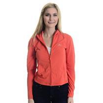 S Adidas Clima365 Orange Long Sleeve Full Zip Mock Neck Track Jacket w/ Pockets