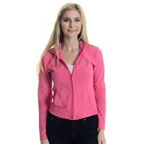 Sz S Adidas Clima365 Pink Long Sleeve Full Zip Mock Neck Track Jacket w/ Pockets