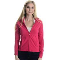 Sz S Adidas Clima365 Magenta Long Sleeve Full Zip Ribbed Mock Neck Track Jacket