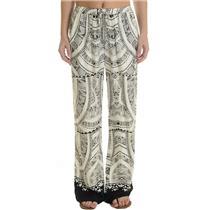 P Twelfth Street Cynthia Vincent Black & White Printed Drawstring Pant 12RCH252