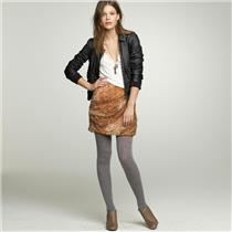 00 J. Crew Crinkled Silk Multi Colored Tempest Skirt Draped Asymmetrical Lined