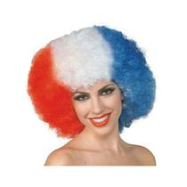 America The Beautiful Red White and Blue 4th of July Patriotic Adult Afro Wig