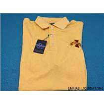 NEW OXFORD AMERICA Men's Polo T Shirt In Yellow - (State I)  w/ Tags Attached -A