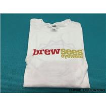 Unused Brewsees Eyewear Men's White T-Shirt - Size Large - No Tags -A