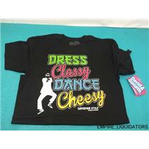 David & Goliath Youth Medium T-Shirt - Dress Classy & Dance Cheezy w/ Tags -A