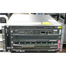Cisco 7604 4 Slot Chassis w 1x VS-S720-10G-3CXL & 1x WS-X6708-10GE-3CXL