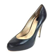 "7 Dolce Vita Sexy Black Leather 4.5"" Classic Stiletto High Heels w/Pointed Toe"