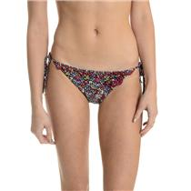 S NWT Juicy Couture Felicity String Bikini Bottoms Regal Ditzy Floral w/Ruffles