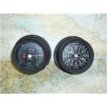 Boaters' Resale Shop of TX 1703 2451.15 SETH THOMAS BAROMETER & CLOCK SET 1635