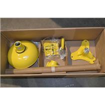 Bradley S19-210 Eyewash, Pedestal Mount, Push Handle, Unassembled, Plastic
